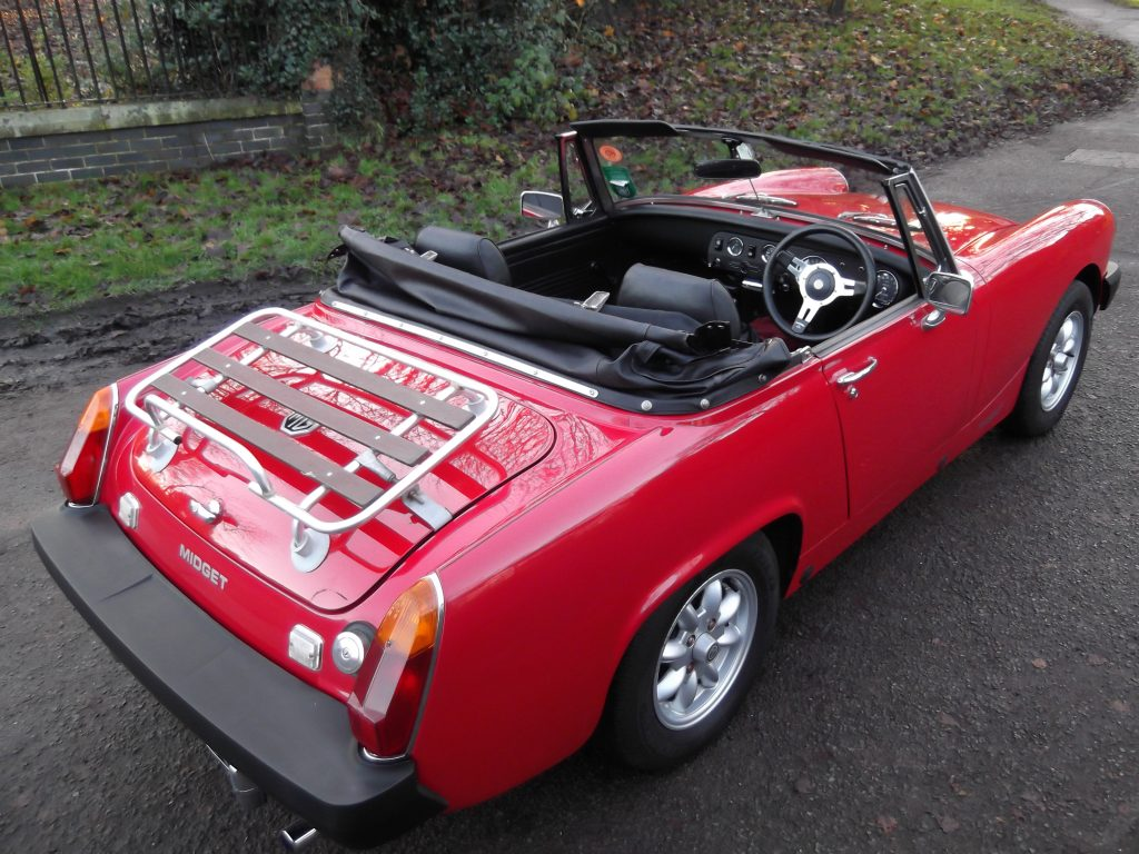MG Midget in Flame Red